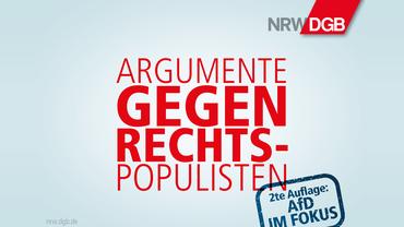 Argumente gegen Rechtspopulisten!