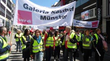 Streiks im Einzelhandel am 29.05.2019 - Kundgebung in Düsseldorf