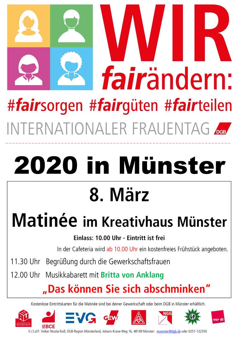 Internationaler Frauentag 2020: Wir fair.ändern
