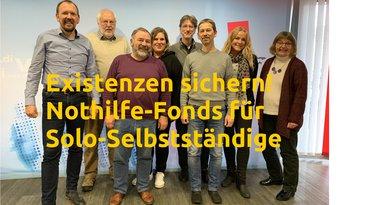 Forderungen zur digitalen Maikundgebung am 1. Mai 2020: Existenzen sichern! Soforthilfe-Fonds für Solo-Selbstständige!