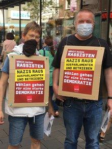 ver.di NRW Aktionswoche gegen Rechts: 22.08.2020 in Bocholt
