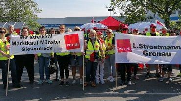 Gemeinsame Streiktage im Einzel- und Groß- und Außenhandel NRW