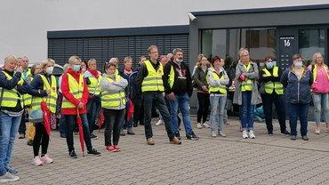 Zweiter Streiktag des Einzel und Groß und Außenhandel im Münsterland